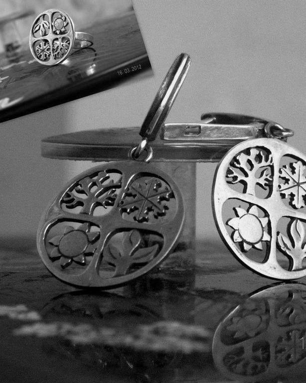 Комплекты украшений ручной работы. Ярмарка Мастеров - ручная работа Серебряный комплект  - времена года. Handmade.