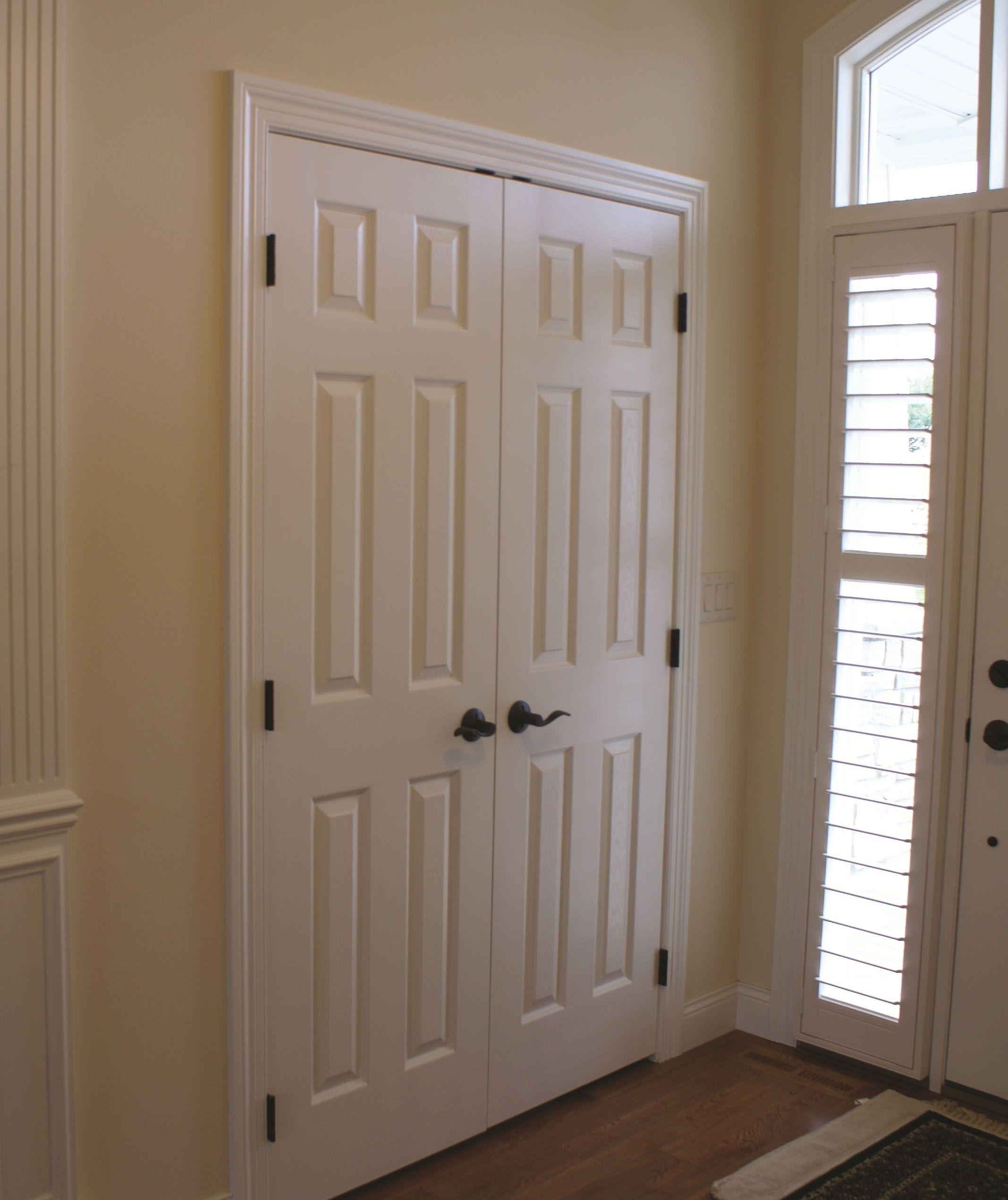 Primed Front Hall Closet Crop Jpg 2135 2541 Closet Doors Hall