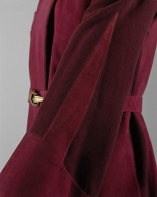 Suit Paquin, leather wool early 1930