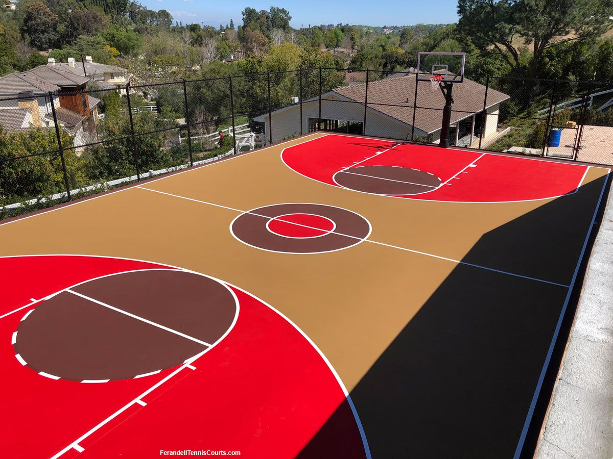 Basketball Court Construction Stunning Hidden Hills Basketball Court Basketball Court Backyard Outdoor Basketball Court Backyard Basketball