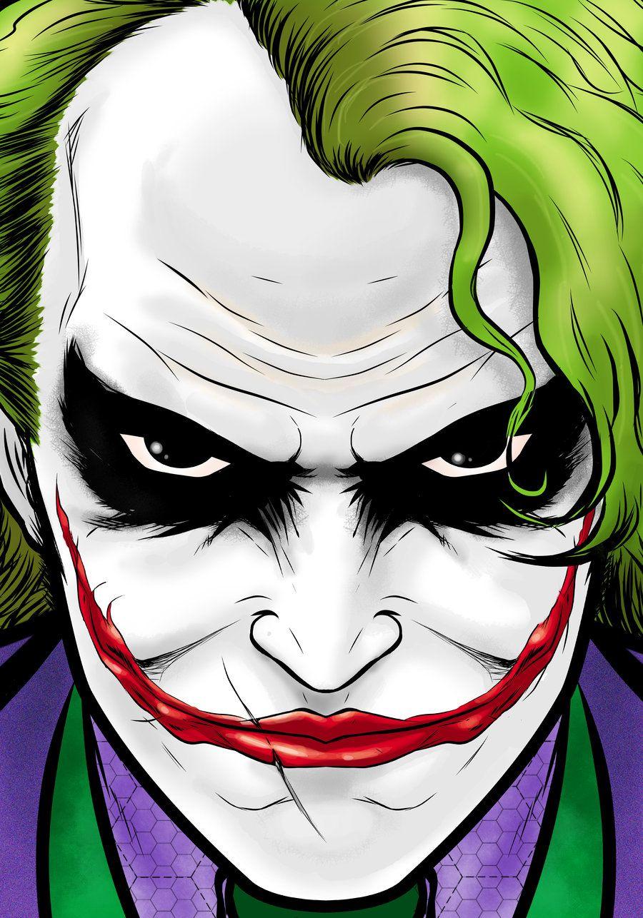 Joker Movie Portrait Series By Thuddleston Deviantart Com On