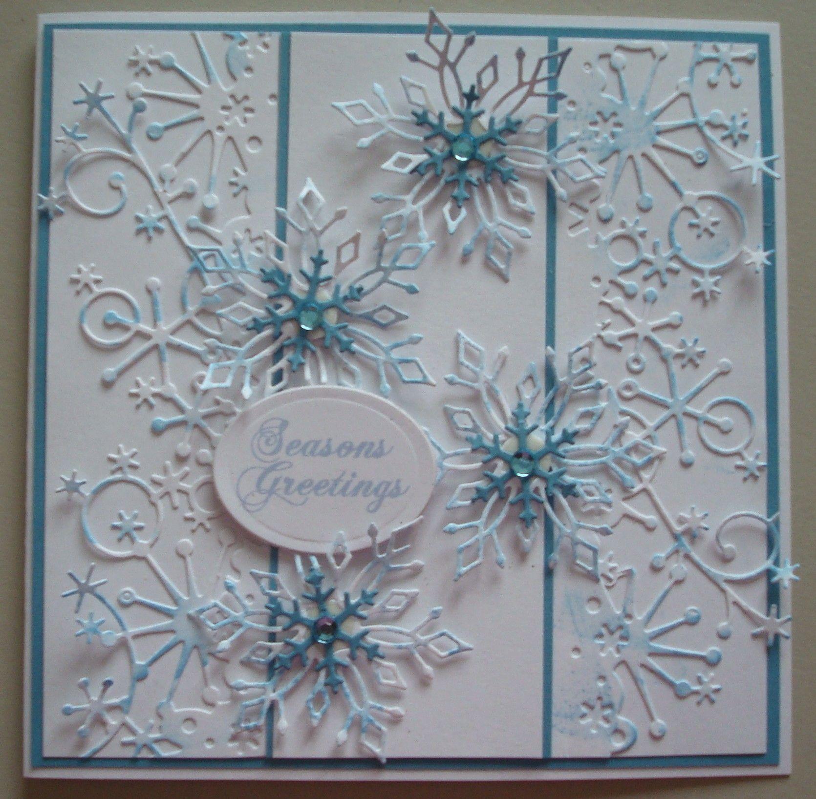 First Edition Stanzschablonen Weihnachten Snowflakes