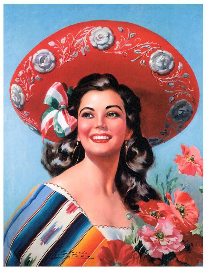Calendar Girls Ideas : Aloha kawaii mexican calendar girls pin up