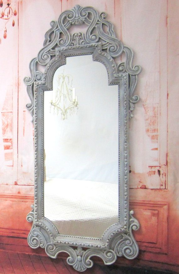 French Provincial Mirror For Long Full By Revivedvintage