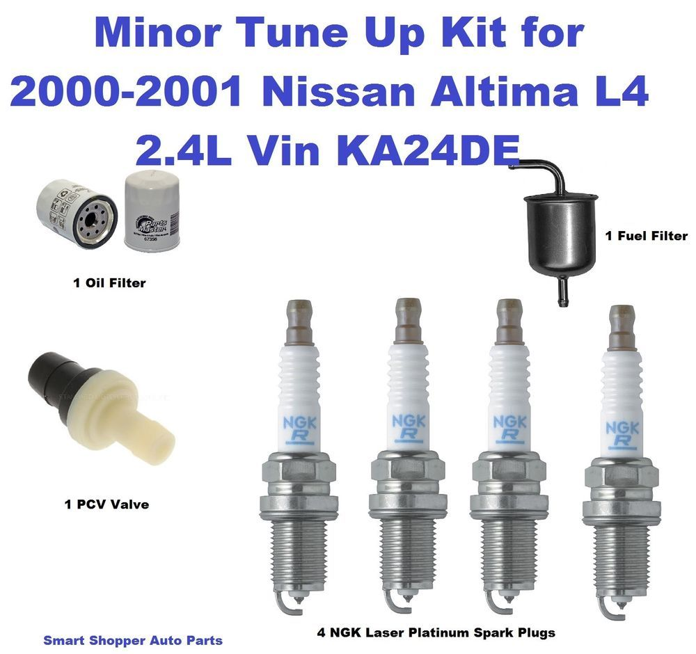 small resolution of tune up for 2000 2001 nissan altima l4 ngk lasesr platinum spark plug oil filte