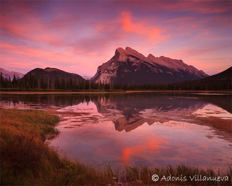 Mount Rundle and Vermillion Lakes, Canadian Rockies