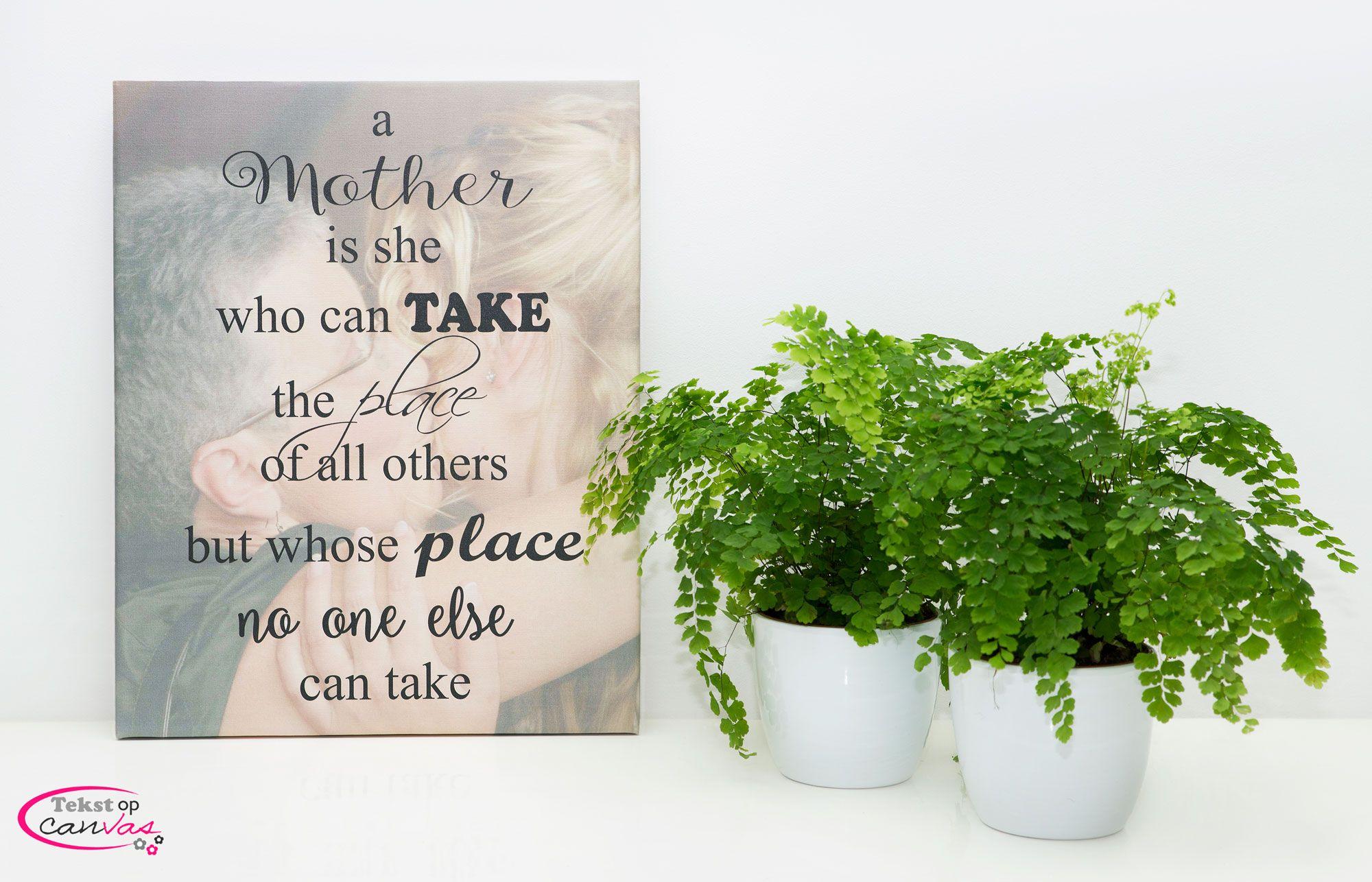 Tips voor moederdag - tekstopcanvas