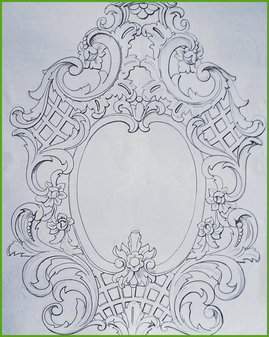 On Instagram Sketchdrawingartornamentsdesigndecorbaroquepencilartarthandmadedrawingpatternsgrafficszei Ornament Drawing Wood Carving Patterns Baroque Ornament
