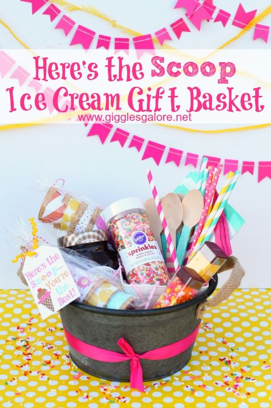 Do it yourself gift basket ideas for all occasions basket ideas do it yourself gift basket ideas for all occassions heres the scoop ice cream gift solutioingenieria Gallery
