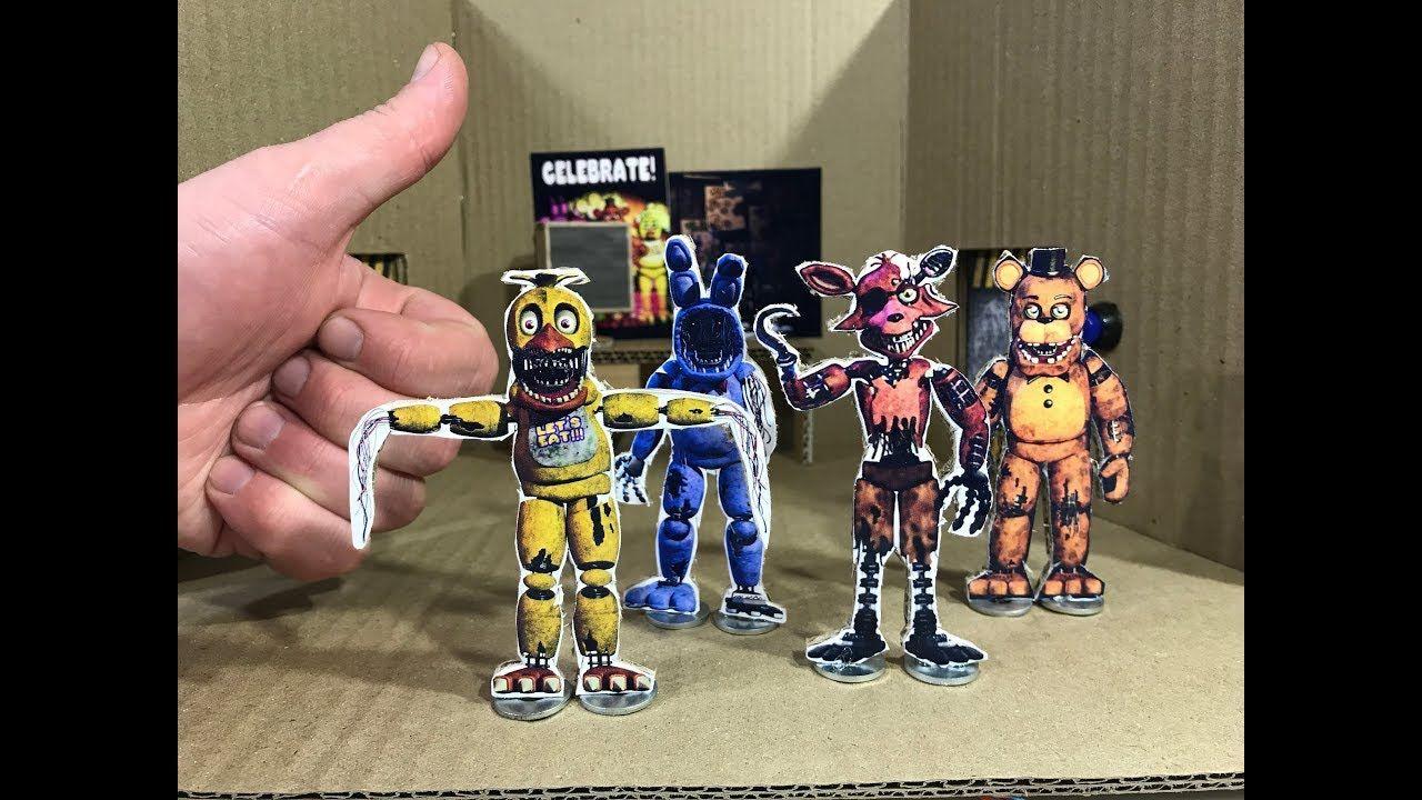 Five Nights at Freddy's. Cardboard game. DIY