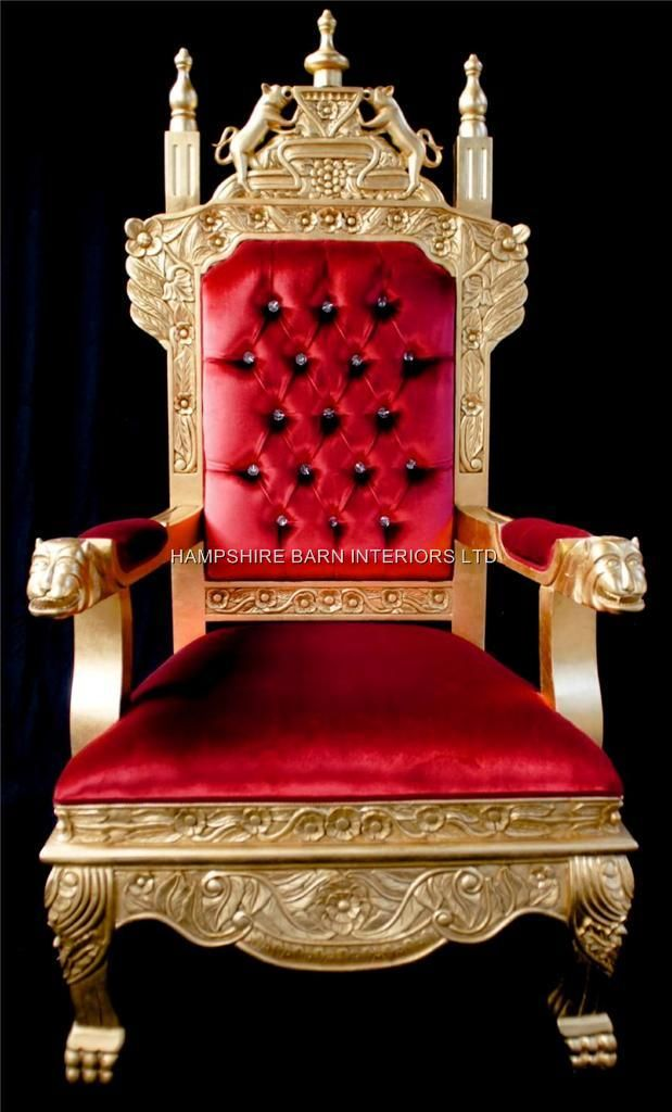 Large Throne Chairs | Hampshire Barn Interiors - Part 2 ...