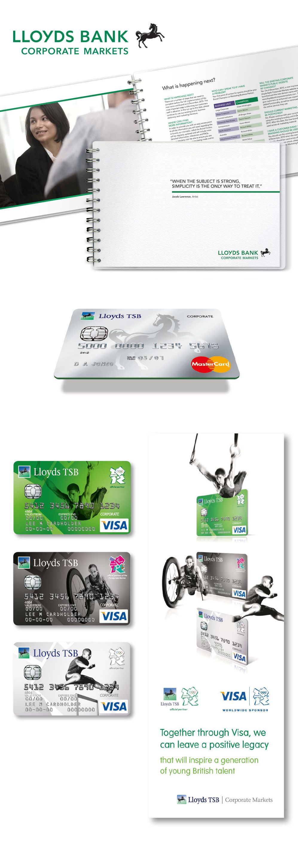 Lloyds Bank Corporate Guide Executive Desk Drop Credit Card Design And Paralympic Card And Marketing Col Credit Card Design Marketing Collateral Card Design