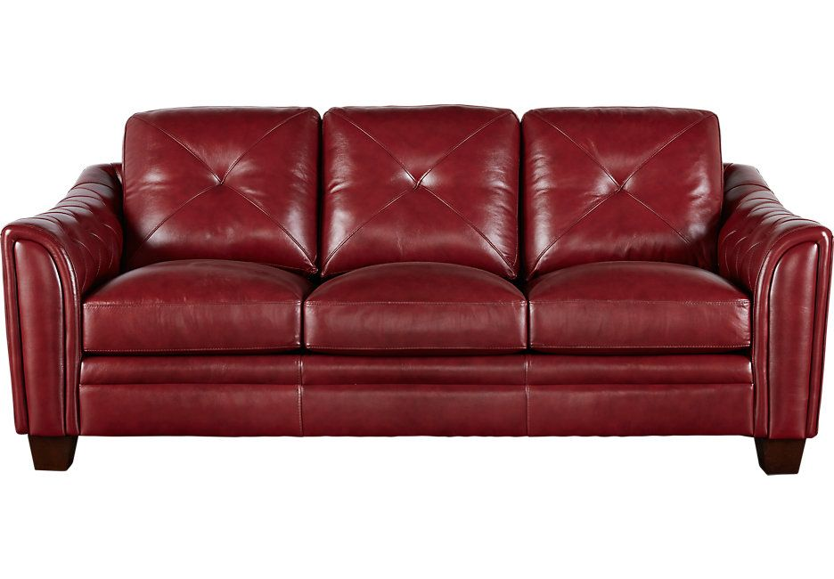 Sofa Leather Red Red Leather Sofa