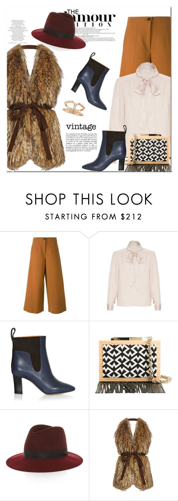 """""""Vintage touches"""" by gifra ❤ liked on Polyvore featuring VIVETTA, Alice + Olivia, Chloé, LAURAFED, Libertine, rag & bone, Stella Jean and vintage"""