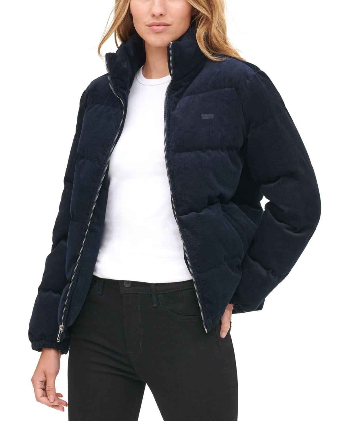 Pin By Chantal On Fashion Inspiration Corduroy Puffer Jacket Jacket Outfit Women Blue Puffer Jacket [ 1467 x 1200 Pixel ]