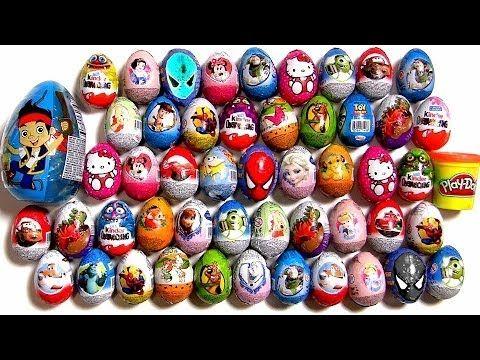 30 Play Doh Kinder Surprise Eggs Spongebob Squarepants Peppa Pig