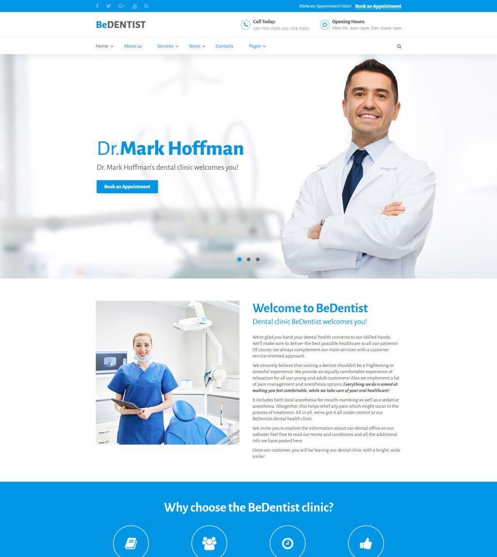 Bedentist Medical Healthcare Website Template 60036