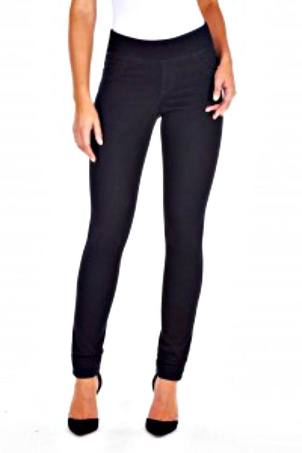 3eede050059 These jeggings (jean leggings) have a wide waist, two pockets in the back,  and a slim fit. The denim fabric is soft and has a nice weight and a great  ...