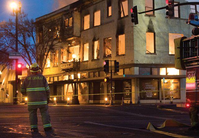 Fire Destroys Porterville Hotel Aka Arlington 1888