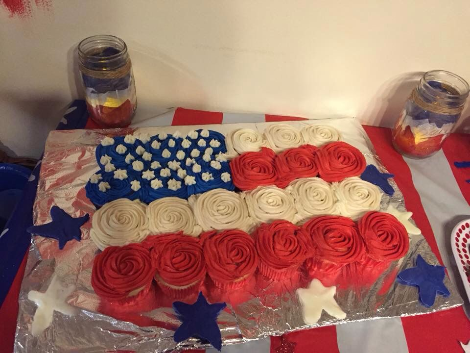 Pull Apart Flag Cake Happy Birthday America Pinterest Happy