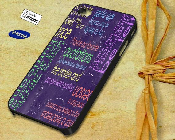 John Green Wall Case for iPhone 4 4S iPhone 5 5S 5C by NauraDesign, $13.50