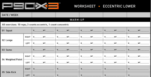Download P90X3 Workout Sheets here! Visit this page to get access ...