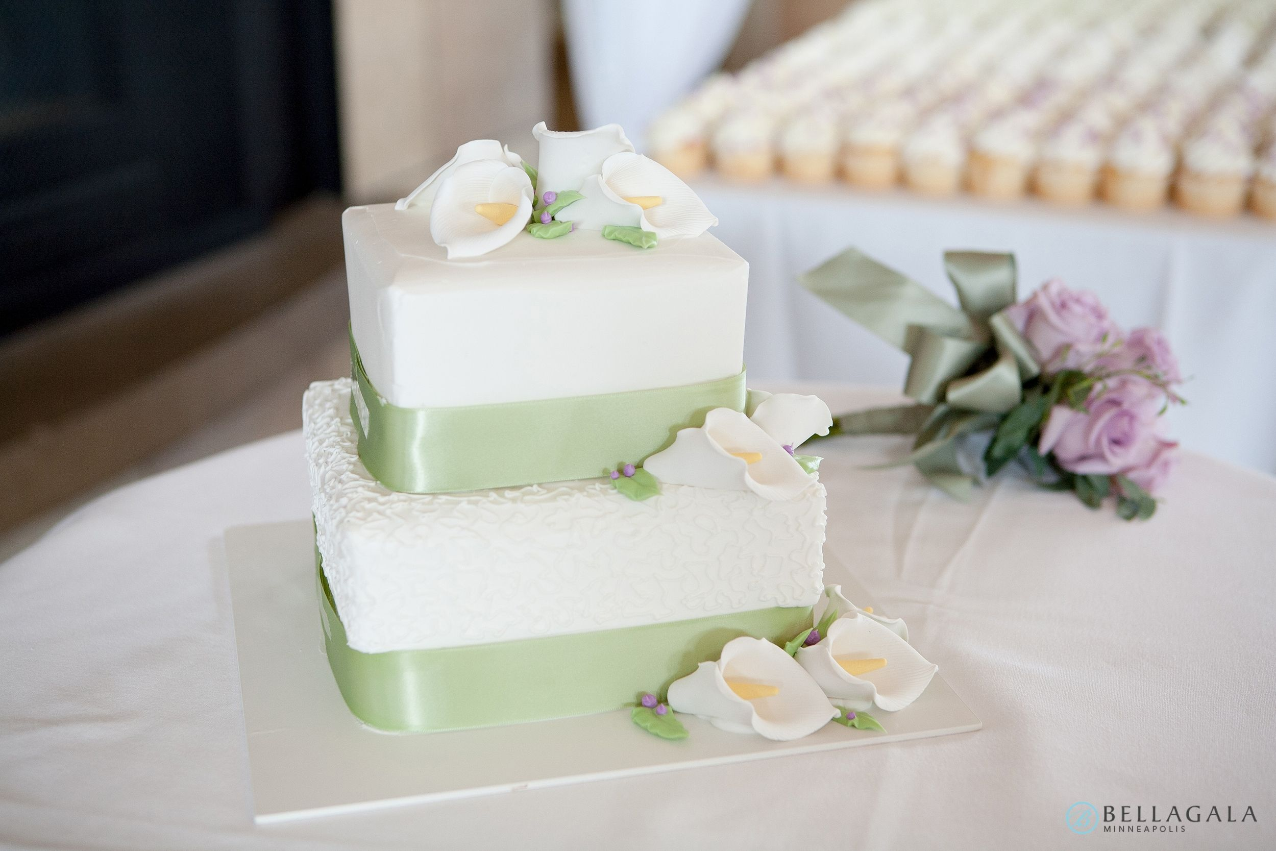 Square two tier. White Buttercream. Photography by Bellagala ...