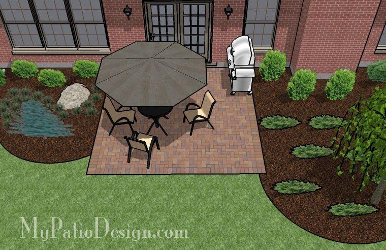 Small Brick Patio Ideas View In Gallery Small Backyard With A Brick Patio  Diy Small Brick