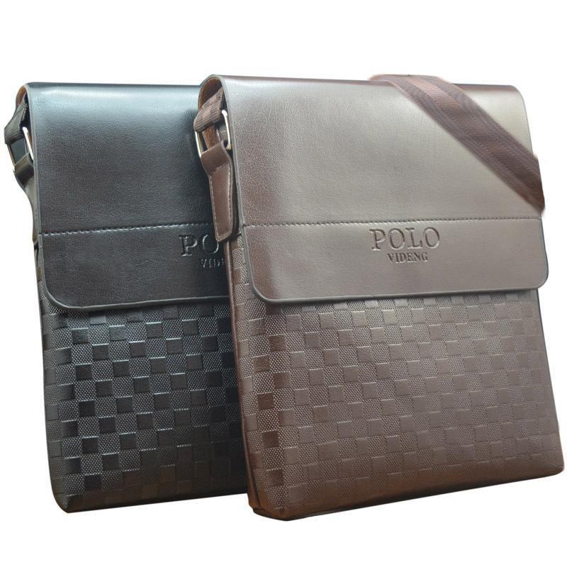New squares polo high videng 2017 leather bag men messenger men casual fashion bags g6cqORgr