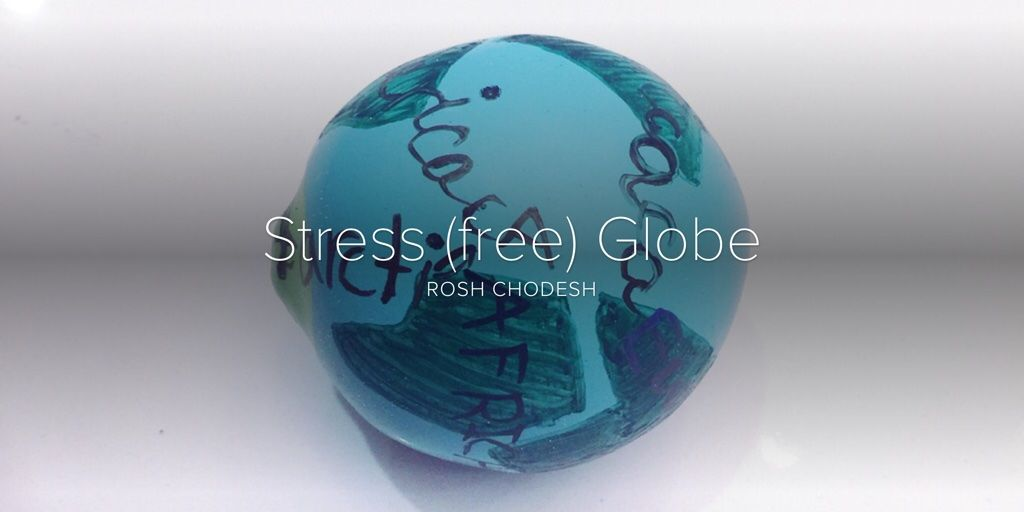 Make a squishy stress (free) globe! Label with continents