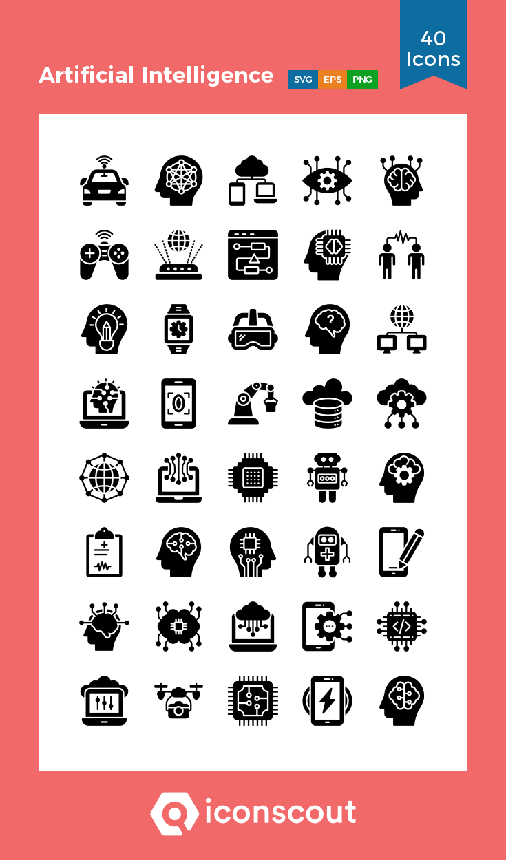 Download Artificial Intelligence Icon pack Available in
