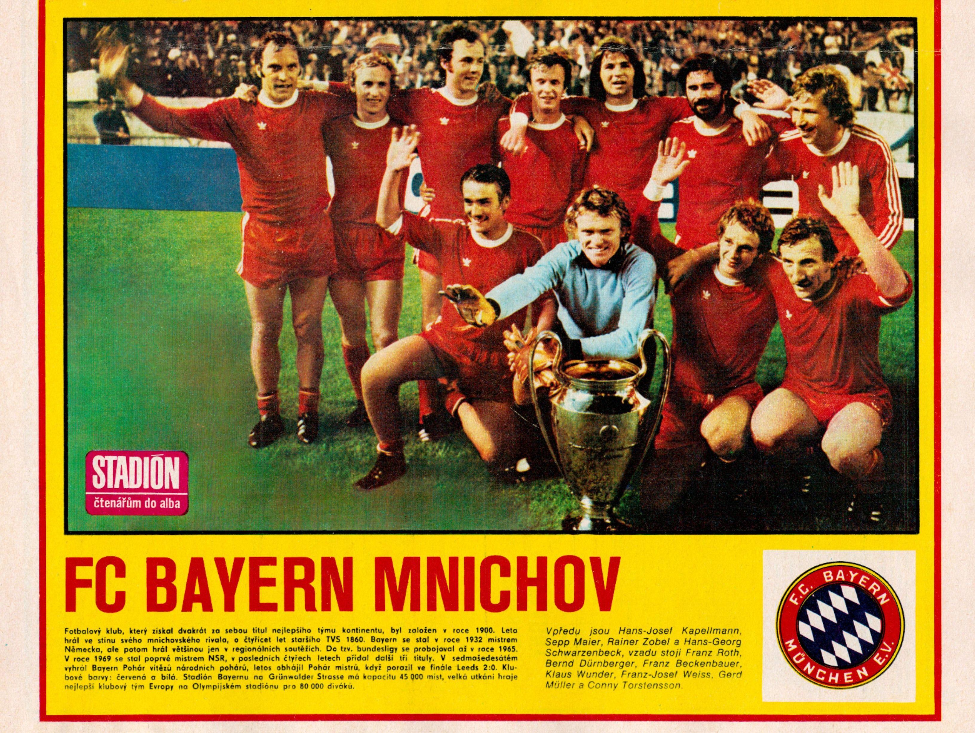 Bayern Munchen 1975 en 2020 Futbol internacional, Fútbol
