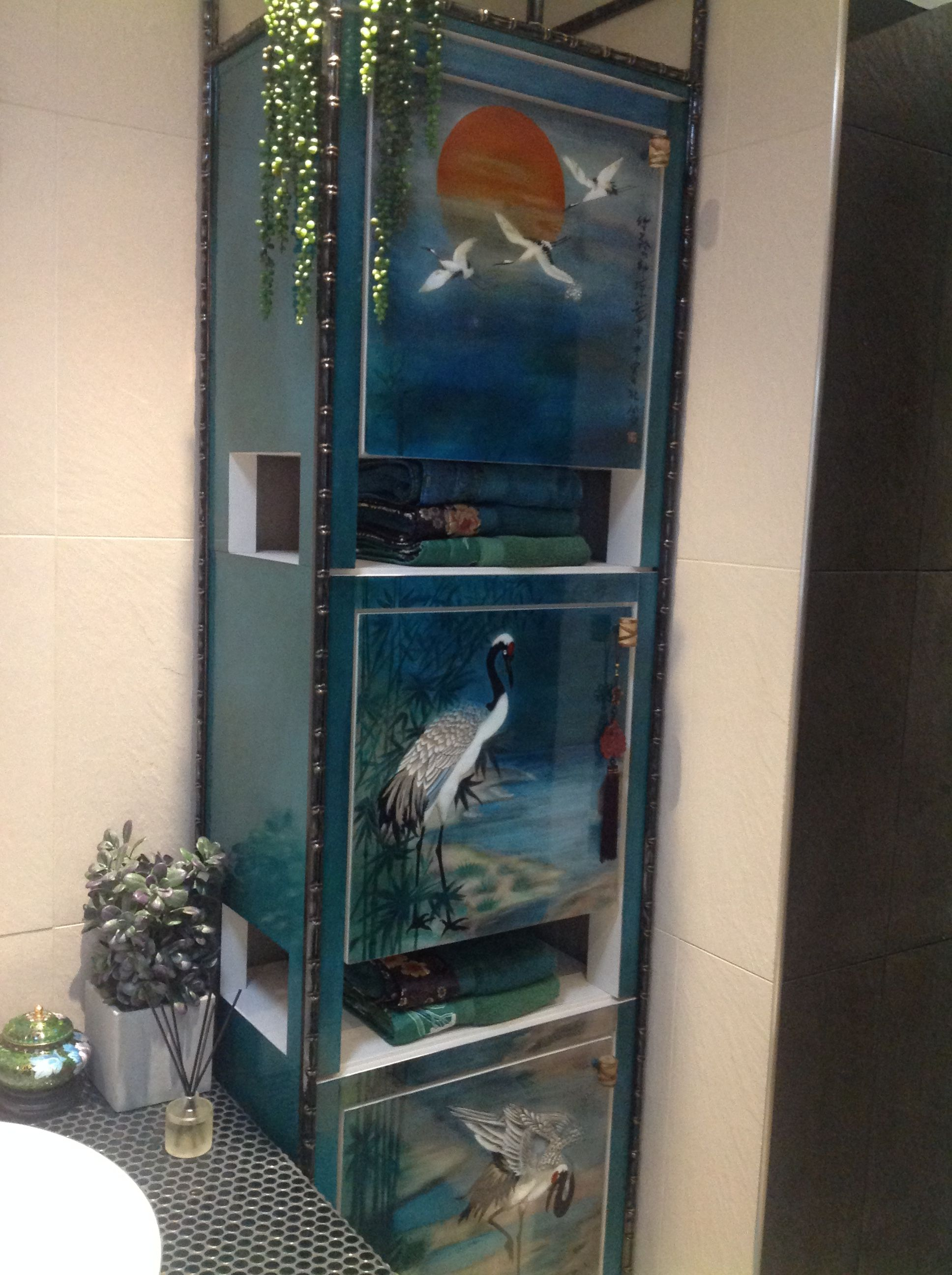 My Latest Creation For The Bathroom Makeover Loved Painting These