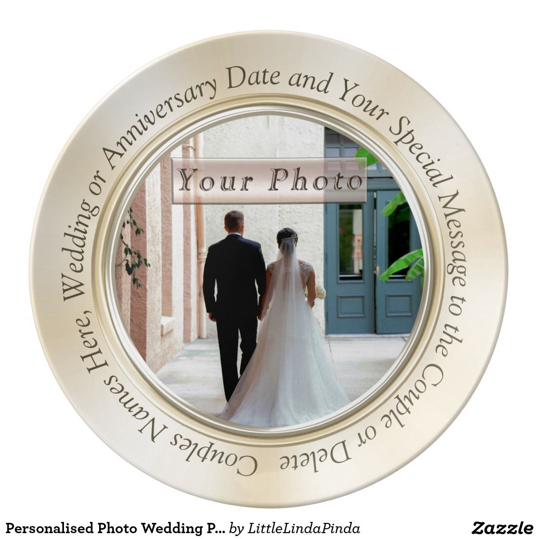 Personalized Photo Wedding Plates With Your Wedding Or Engagement