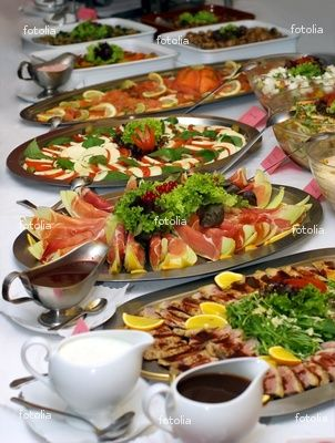 Wedding Food Display Maybe A Few Large Silver Platters And Then Plates Of Different