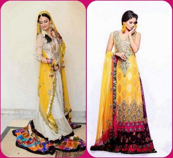 21d85c4541 Beautiful Stylish Mehndi Bridal Wedding Dresses Collection | BRIDAL ...