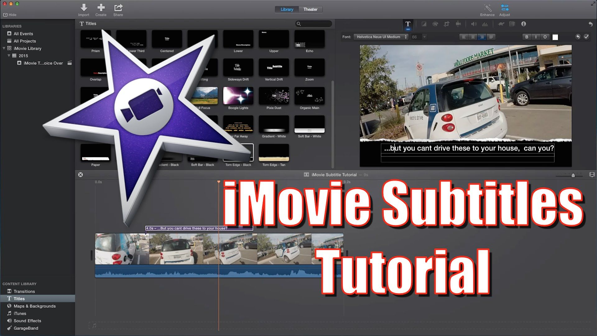 This is a tutorial for Apple's iMovie, that shows you how