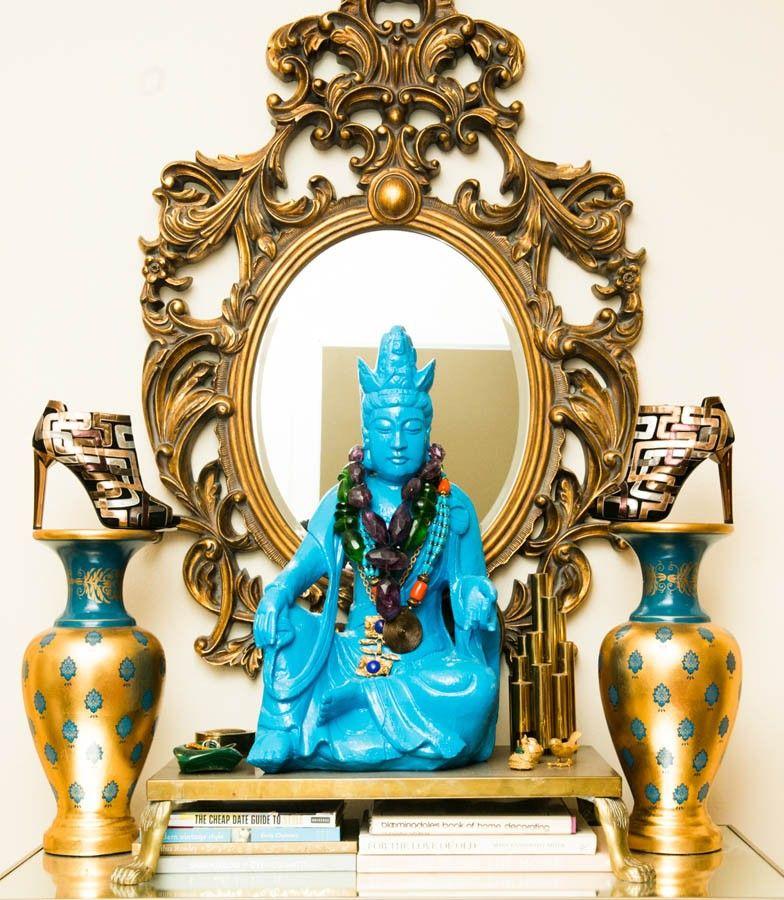 Jane Judy Aldridge Buddah Statue Gold Interior Inspiration