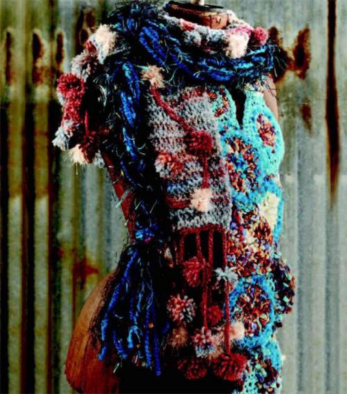 Braided Medallion & Pompom Scarves | Crochet - granny squares ...