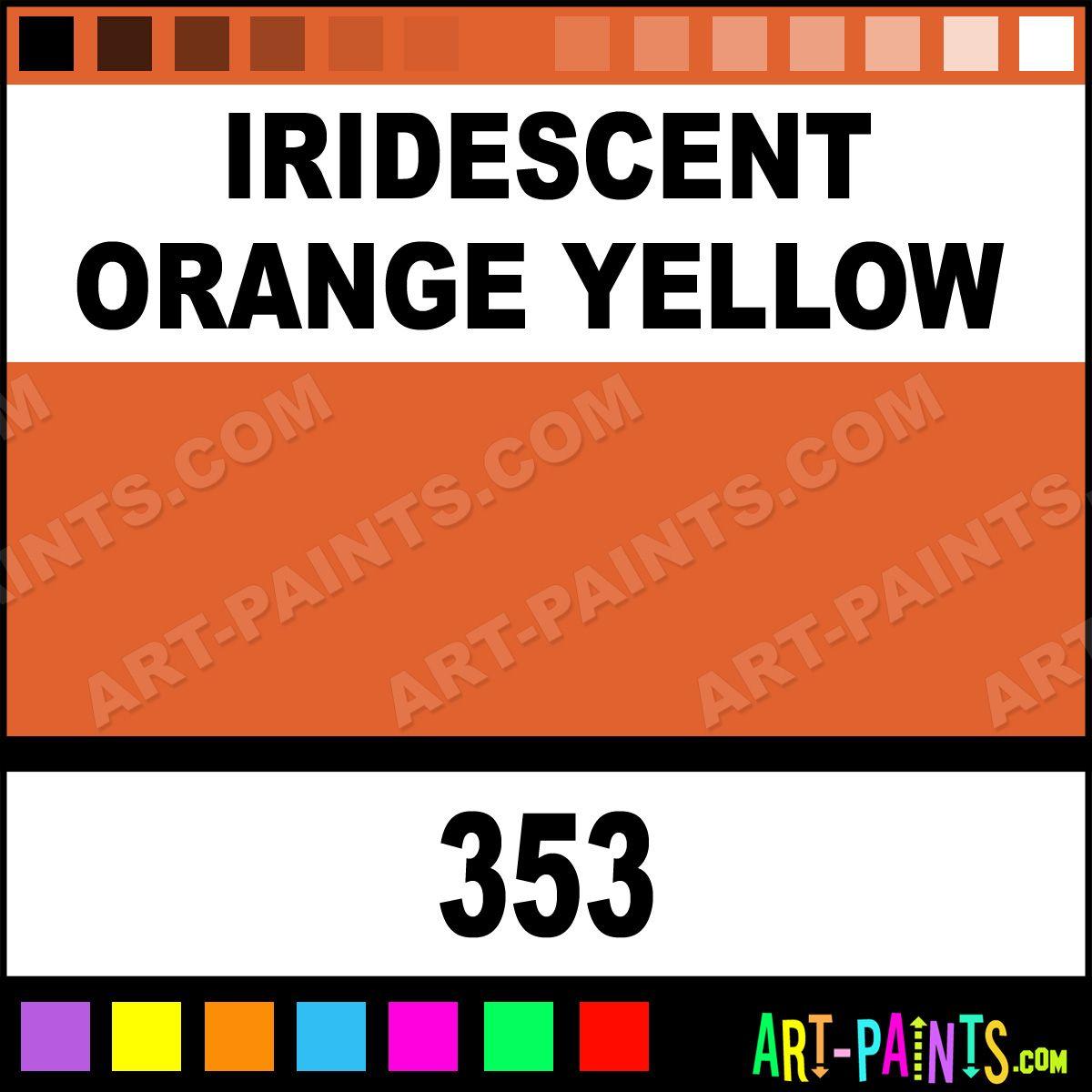 Iridescent Orange Yellow Studio Acrylic Paints 353 Iridescent Orange Yellow Paint Iridescent Orange Yellow Yellow Painting Orange Paint Colors Yellow Art