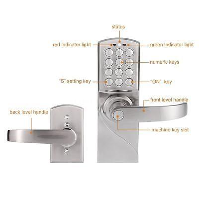 Digital Code Electronic Entry Home Security Safety Keyless Keypad Door Lock F2z8 Keyless Door Lock Keypad Door Locks Entry Door Locks