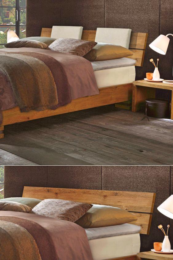 Ein Boxspringbett aus Holz ist die richtige Idee um