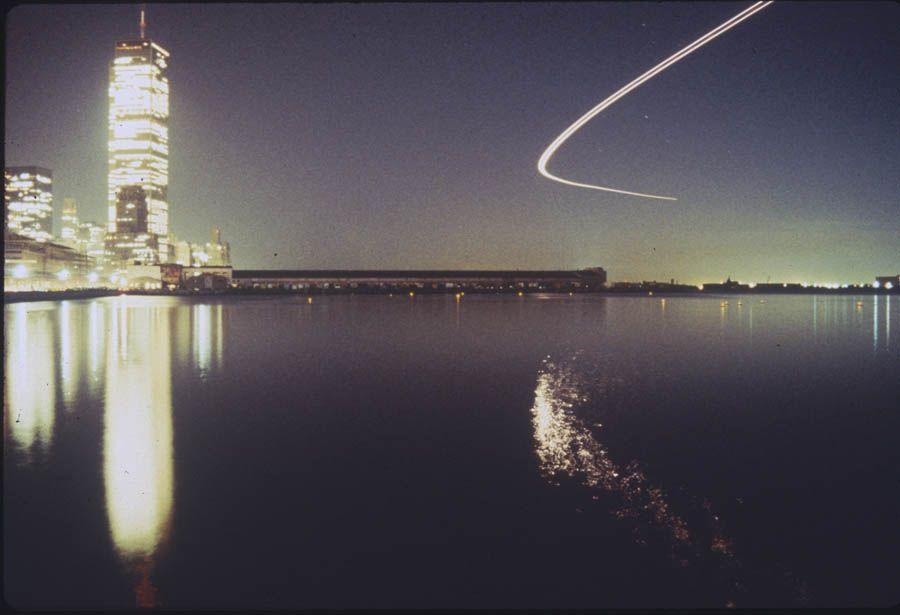 Floating Lights In Hudson River