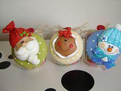 adornos para arbol porcelana fria fimo