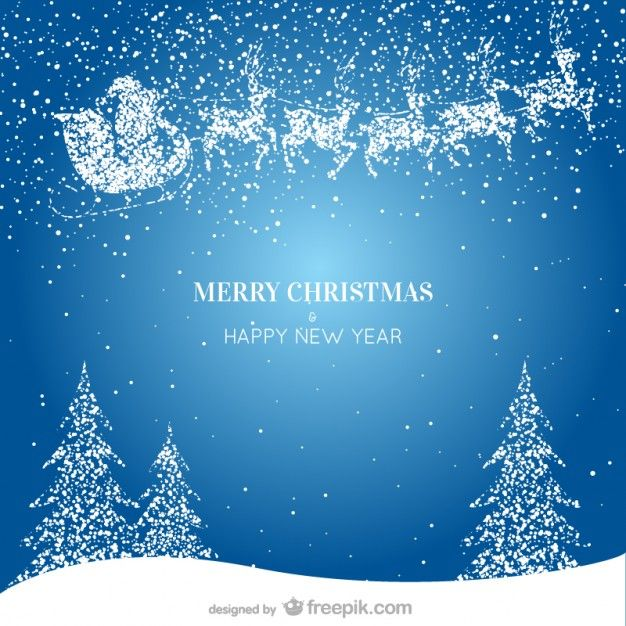 merry christmas happy new year background free vector