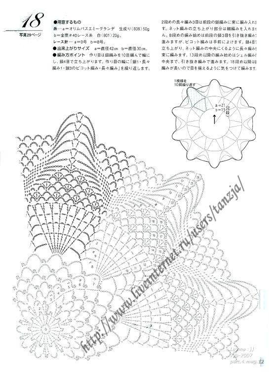 pañito 7 esquema | crochet Doilies | Pinterest | Paños, Esquemas y ...