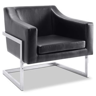 Candid Bonded Leather Accent Chair