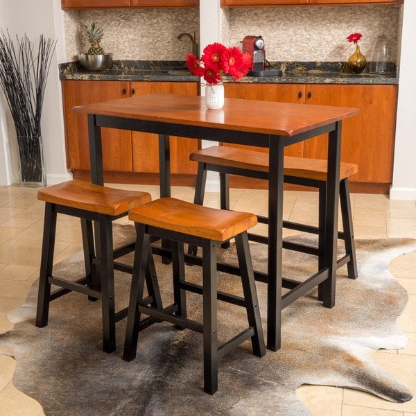 Pomeroy 4 piece wood dining set by christopher knight home kitchen pomeroy 4 piece wood dining set by christopher knight home kitchen table for small kitchen pinterest knight dining and woods watchthetrailerfo