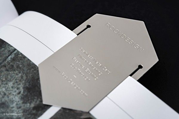 High End Stainless Steel Bookmark Business Card Rock Design Business Cards Creative Business Card Design Name Card Design