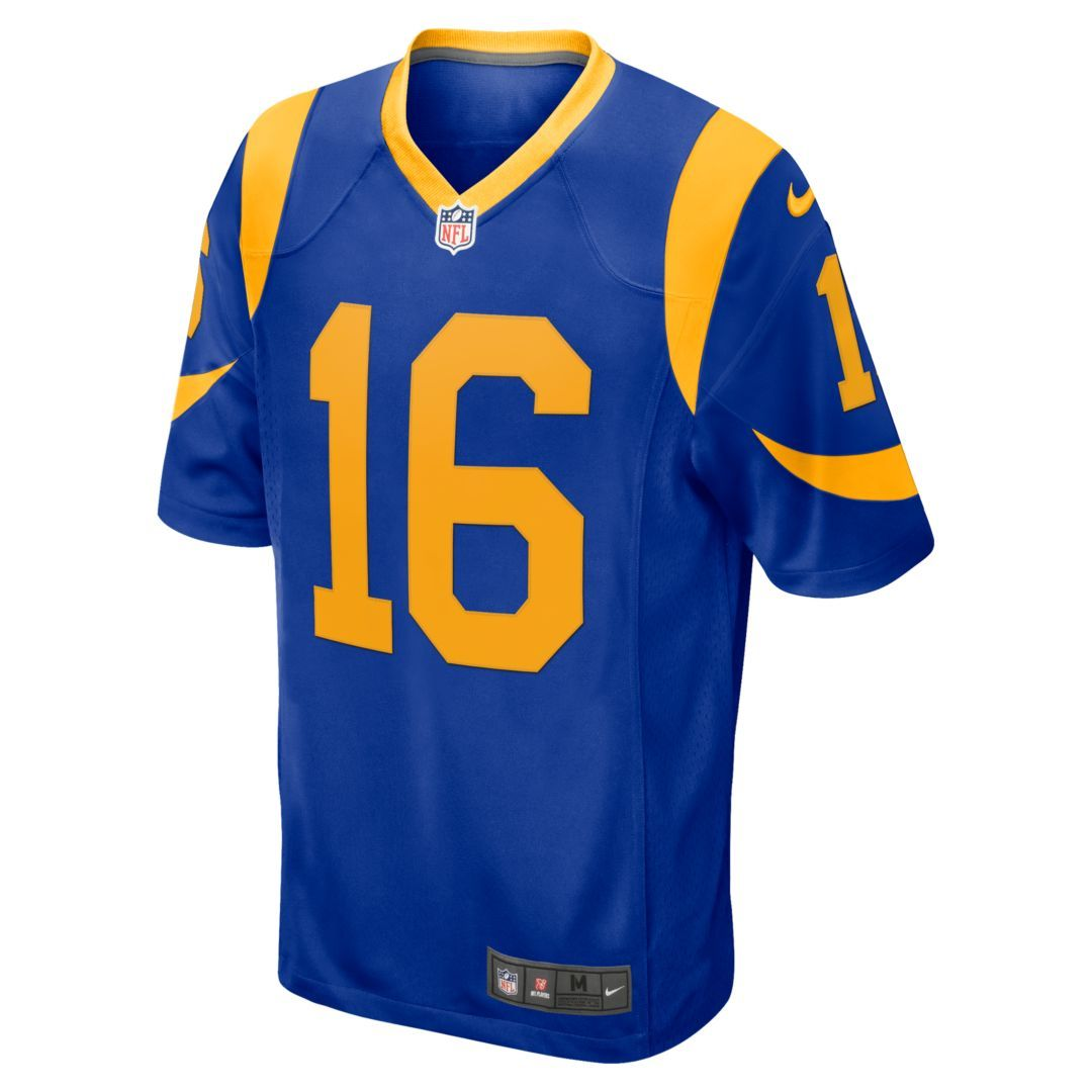 pretty nice 9468b 69ce7 NFL Los Angeles Rams Game (Jared Goff) Men's Football Jersey ...